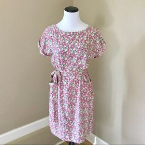 Lilly Pulitzer Pink Floral Belted Shift Dress